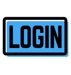 Login stamp on white vector
