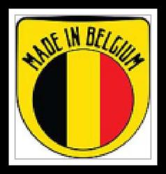 Made in Belgium sign vector