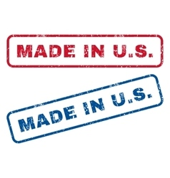 Made In US Rubber Stamps vector