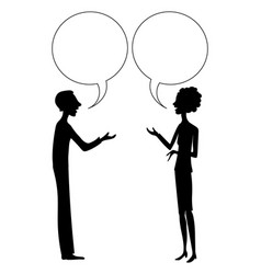 man and woman are talking drawing vector image