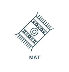 Mat line icon linear concept outline sign vector