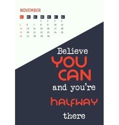 Motivation quotes calendar 2017 vector