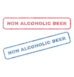 Non alcoholic beer textile stamps vector
