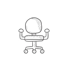 Office chair sketch icon vector image