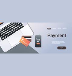online shopping mobile application internet vector image