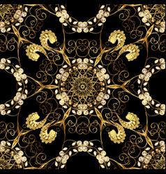 Oriental style arabesques seamless pattern on vector