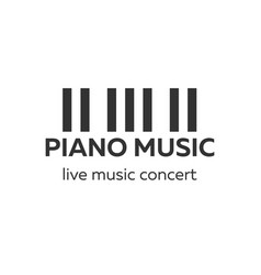 piano concert logo design live music concert vector image