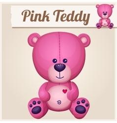 Pink teddy bear Cartoon vector image