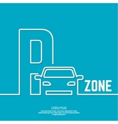 Pointer to the car parking zone vector