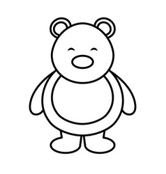 Polar bear cute character vector