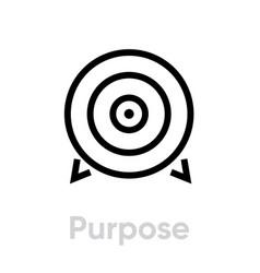 Purpose target icon editable line vector