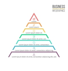 Pyramid triangle with 7 steps levels vector