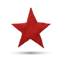 Red star on white background vector image