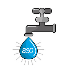 Reduce and save water icon vector