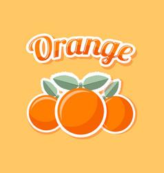 retro orange on pale orange background vector image