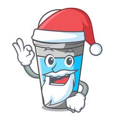 Santa roll on deodorant isolated with cartoon vector
