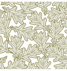 Seamless pattern from oak leaves vector