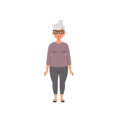 Senior woman grandmother stage of growing up vector