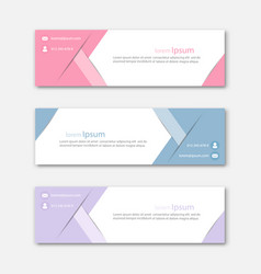 set abstract design banner template vector image