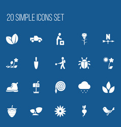 Set of 20 editable agriculture icons includes vector