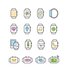 Set of smart watch icons Smartwatch vector