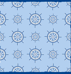 Ship helm seamless pattern marine boat wheel vector