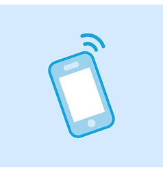 Smartphone Icon Simple Blue vector