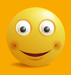 smile constructor cartoon smiley emoticon emoji vector image