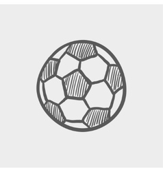 Soccer ball sketch icon vector image