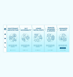 software as service advantages onboarding template vector image