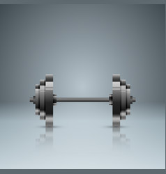 sports activity business infographics barbell vector image