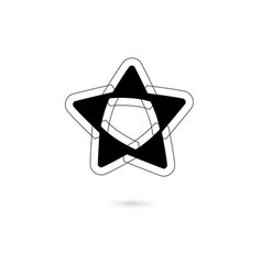star icon logo isolated on white background vector image