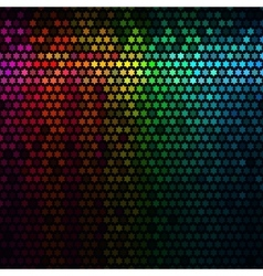 Star pixel mosaic vector image vector image
