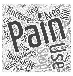 Stopping The Pain Of Toothaches Word Cloud Concept vector