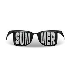 Sunglasses with the inscription - summer vector