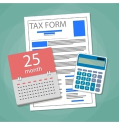 Time for pay taxes concept vector