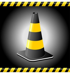 traffic cone background vector image