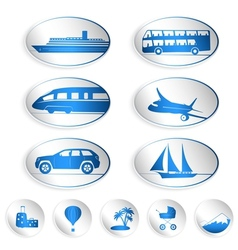Travel labels logos and stickers vector image