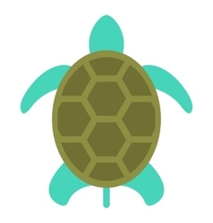 turtle icon isolated on white flat style vector image