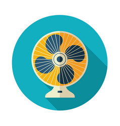 Ventilator icon summer vacation vector