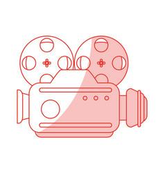 Vintage video camera design vector