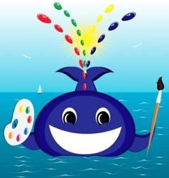 Whale artist vector