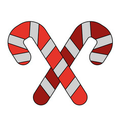 White background with christmas candy cane with vector