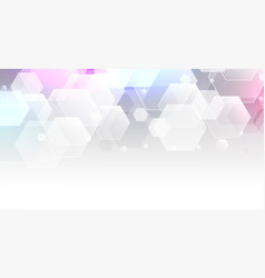 White background with transparent hexagonal vector