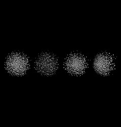 white blobs dots pattern blots dots vector image