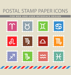 Zodiac icons set vector