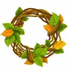 autumn wreath decoration vector image