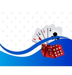 Casino gambling background vector image