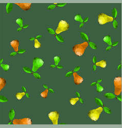 polygonal pear seamless pattern vector image