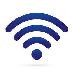 blue wifi icon wireless symbol on isolated vector image